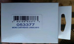 053377 LX200e/LX800/LX810e Black Pigment-Based ink cartridge, High Yield